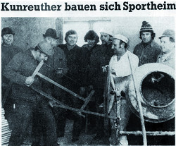 Chronik Sportheim Bau TSV Kunreuth